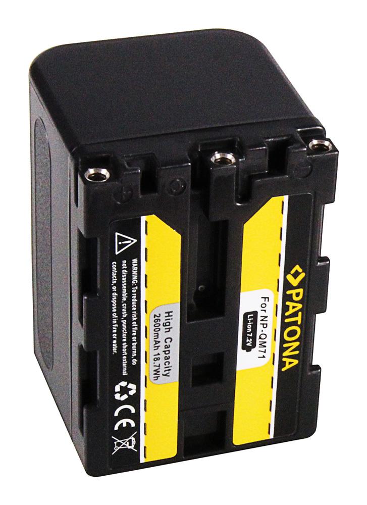 NP-FM70 2600mAh Battery for Sony NP-QM71D NP-FM71-7.2v